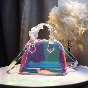 Holographic PVC Crossbody Shoulder Bag